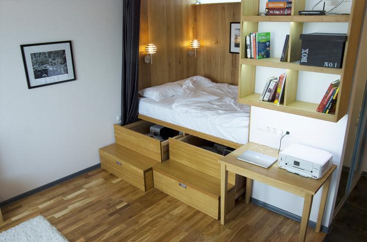 Фотография: Спальня в стиле Современный, Квартира, Дома и квартиры, Проект недели – фото на InMyRoom.ru