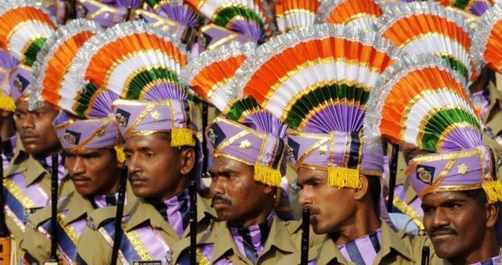 Índia Estilo, exército, guerra, mundo, forma, roupas, forma