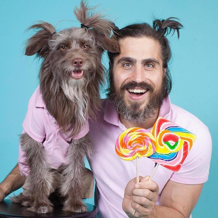 . Парень и его любимая собака очень похожи друг на друга. Очаровательные портреты двух друзей. Фото с сайта NewPix.ru