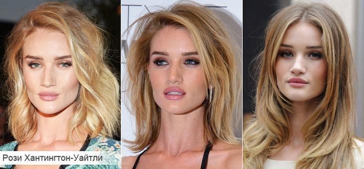 Как подобрать стрижку для тонких волос на примере Рози Хантингтон-Уайтли