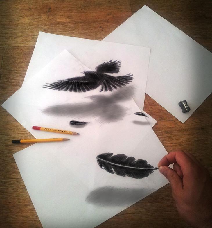3Ddrawings19 Самые впечатляющие карандашные 3D рисунки от художников со всего света
