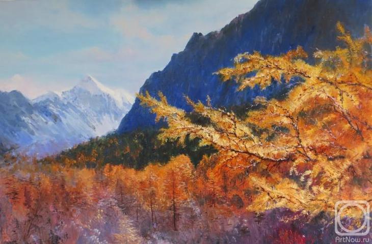 Картина маслом на холсте. Комаров Николай. Забавы осени