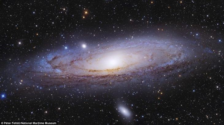 Галактика Андромеды. Петер Фелтоти, Венгрия астрономия, конкурс, космос, красиво, лучшее, планеты, фото, фотографы