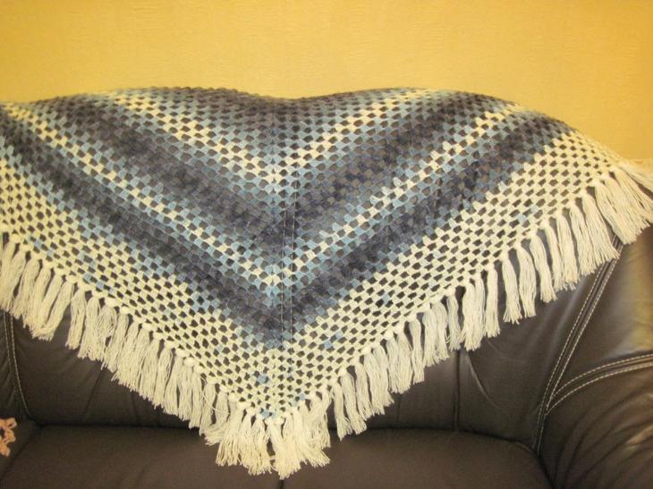 Вязание шали — схема вязания крючком Рукоделие,вязание крючком