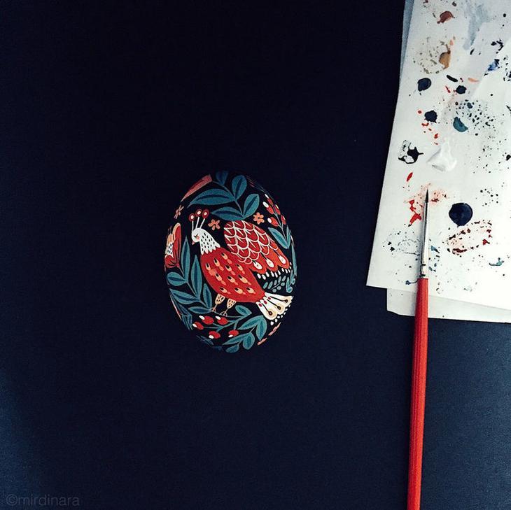 Пасхальные яйца фольклорные мотивы от художницы из Узбекистана Динары Мирталиповой, фото № 21