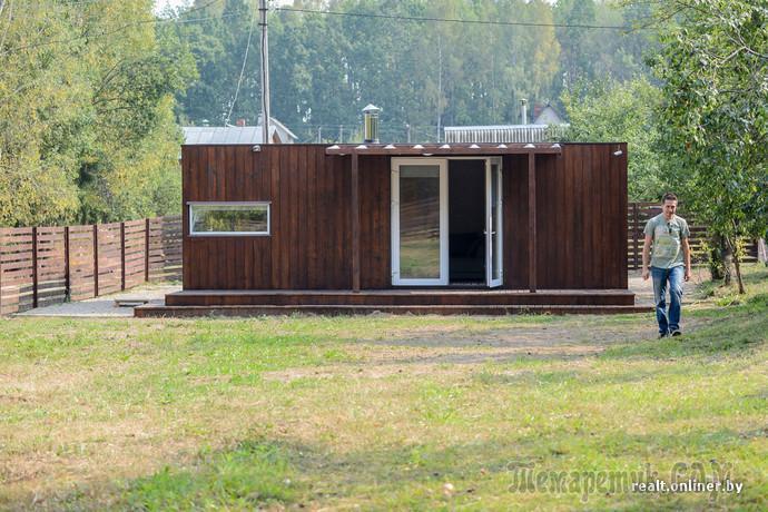 Дом-контейнер: минчанин построил альтернативу обычной даче