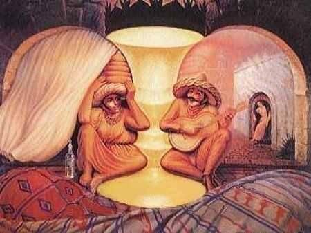 Иллюзии: картинки-загадки