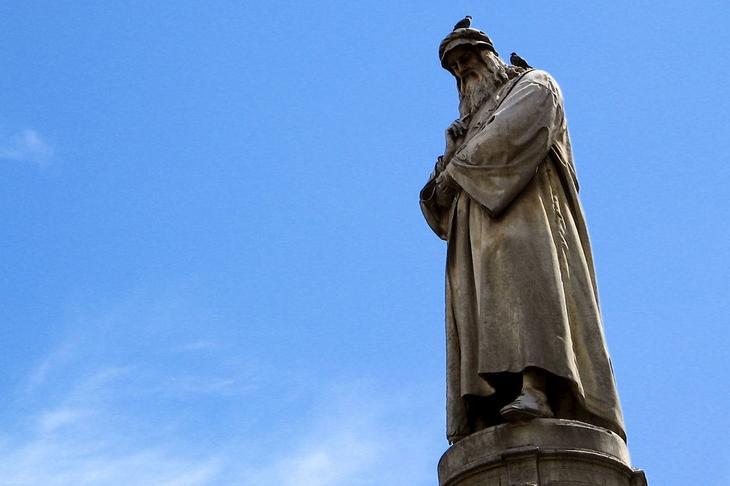 Статуя Леонардо да Винчи