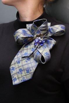 Оригинальное преображение мужских галстуков