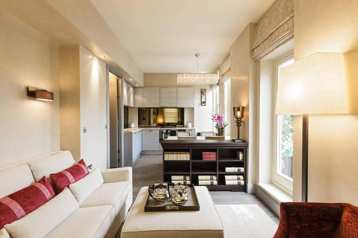 Современная квартира площадью 40 кв. м. с открытой планировкой пространств