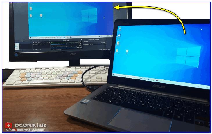 Захват видео с ноутбука (по HDMI изображение передается на ПК и записывается в OBS)