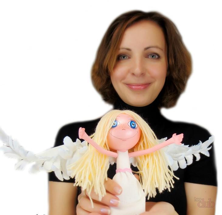 Кукла-ангел из фоамирана от евгении романовой