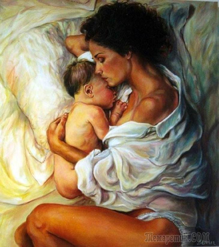 Мать и дитя картинки красивые