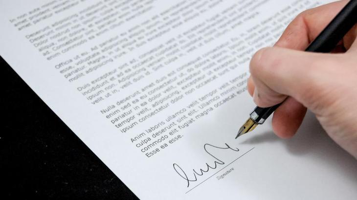 Договор заключавшийся в письменном виде