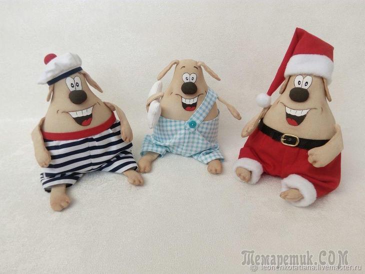 Шьем веселую собачку — символ Нового года