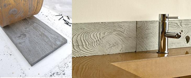 Взгляните как сделать собственную структурированную плитку из цемента.