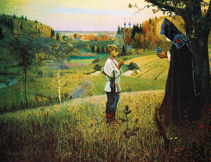 Радонеж - окрестности на картине М. В. Нестерова