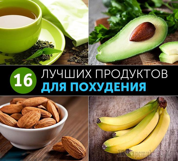 Продукты для похудения - список, низкокалорийные и диетические блюда