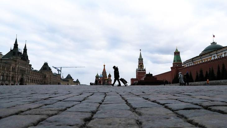 Красная площадь в Москве, Россия, 21 марта 2020 года