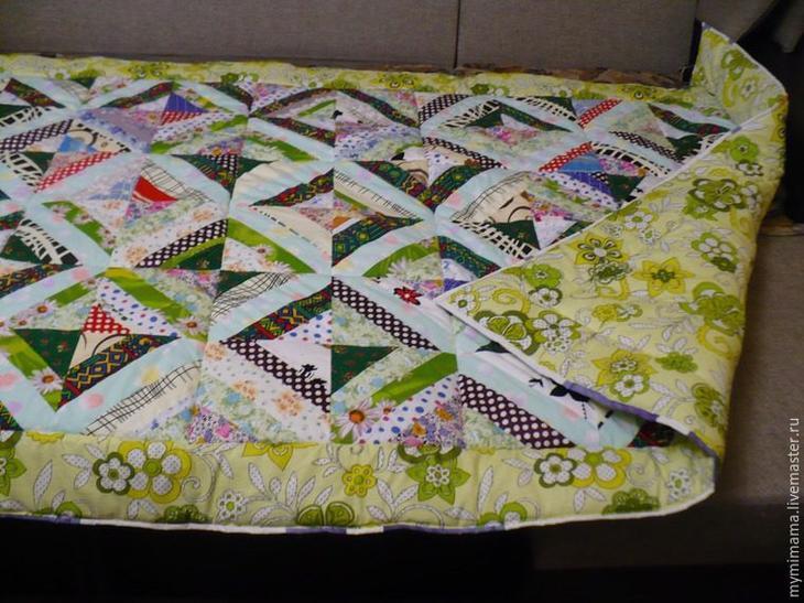 Очень красивое лоскутное одеяло