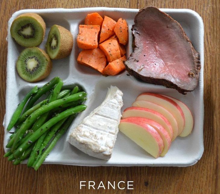 Школьный завтрак во Франции