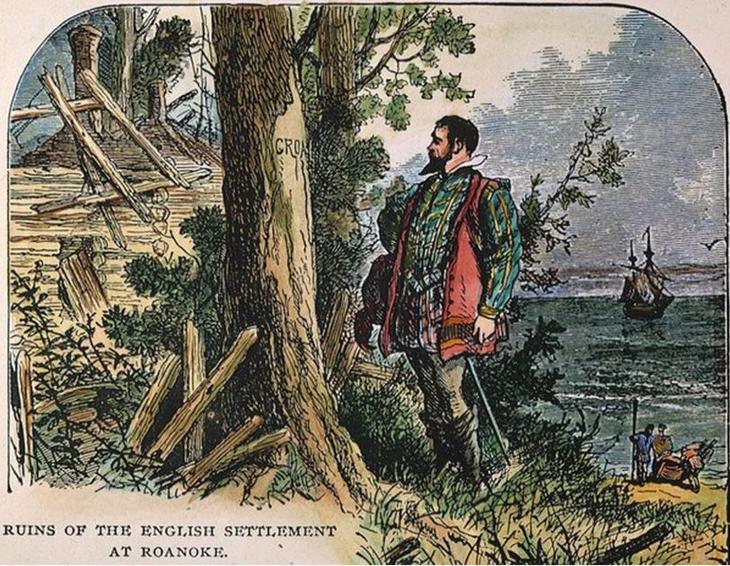 Руины английской колонии на Роанок.
