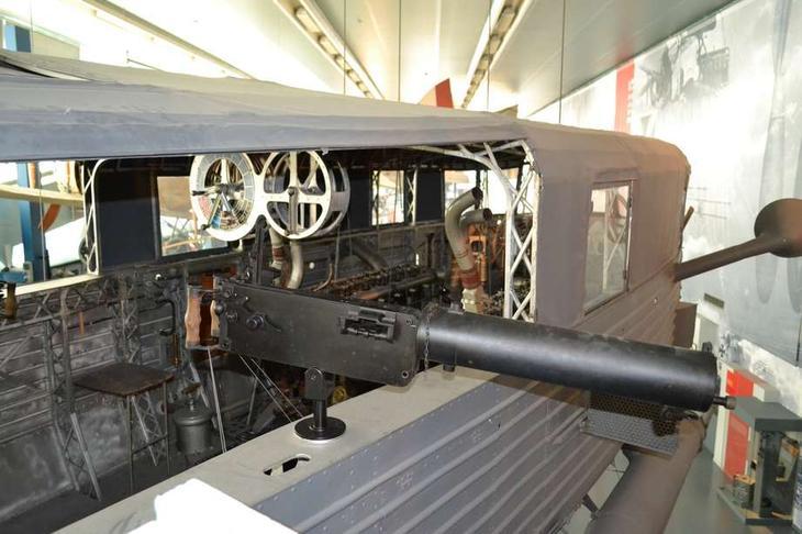 Немецкие дирижабли имели сильное оборонительное вооружение