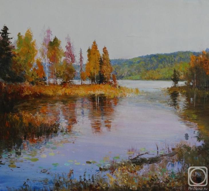 Картина маслом на холсте. Комаров Николай. Озеро
