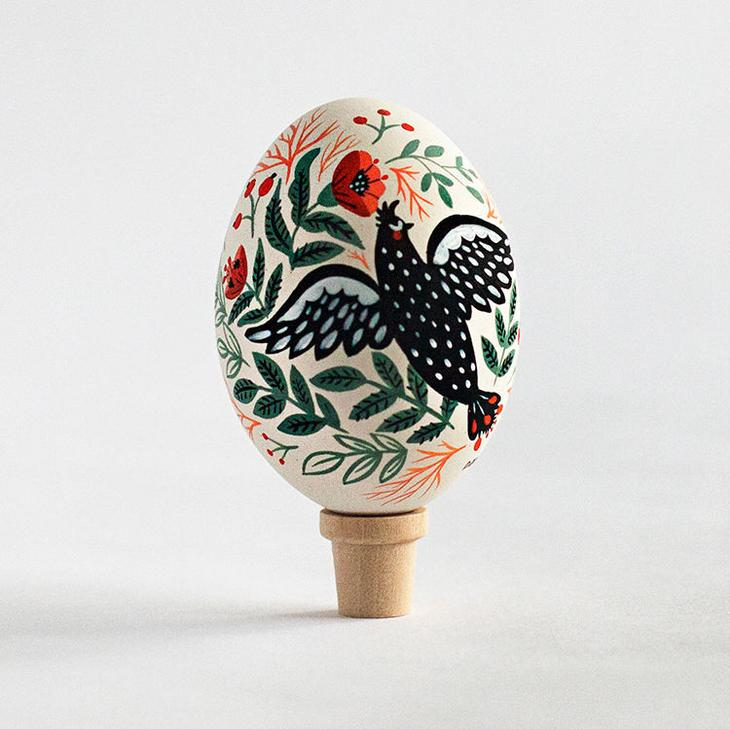 Пасхальные яйца фольклорные мотивы от художницы из Узбекистана Динары Мирталиповой, фото № 40