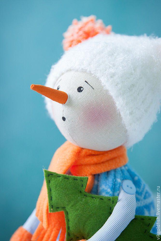Очаровательный снеговик своими руками