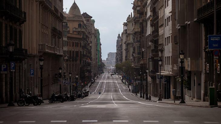 Улица Лаетана в Барселоне, Испания, 22 марта 2020 года