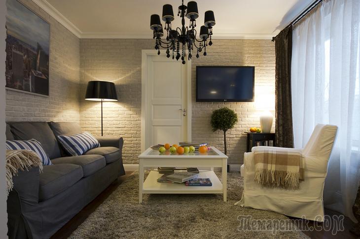 Интерьер квартиры в Москве 56 кв. м