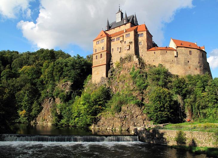 Замок Крибштайн, Германия. Построен в 1384 году. европа, замки, история, средневековье