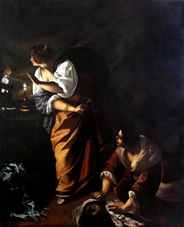 «Юдифь и её служанка Абpа с головой Олоферна» (1645-1650)