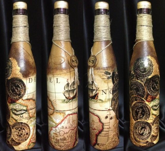Декупаж бутылок в подарок