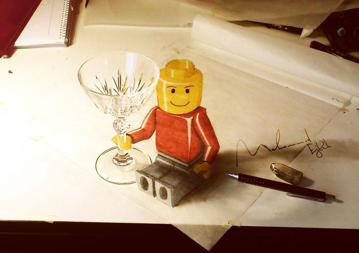 3Ddrawings14 Самые впечатляющие карандашные 3D рисунки от художников со всего света