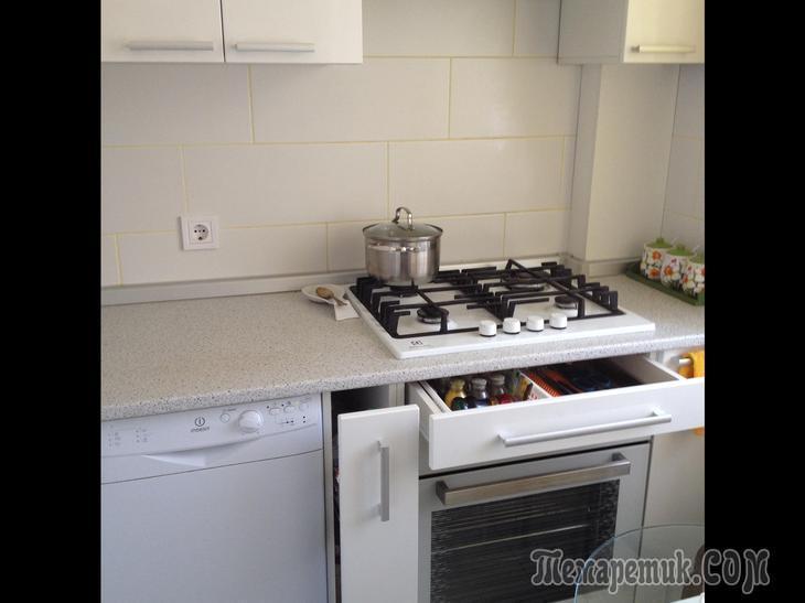 Малюсенькая кухня, где вместилось все!
