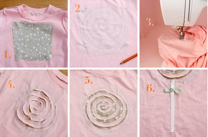 Украшение тканью одежды