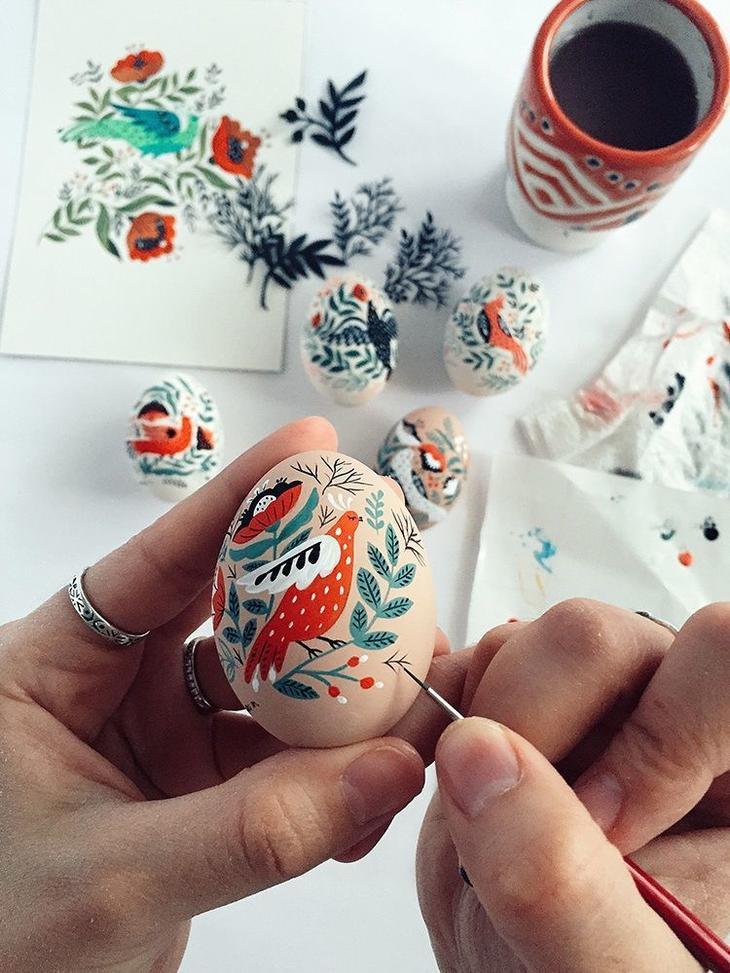 Пасхальные яйца фольклорные мотивы от художницы из Узбекистана Динары Мирталиповой, фото № 38