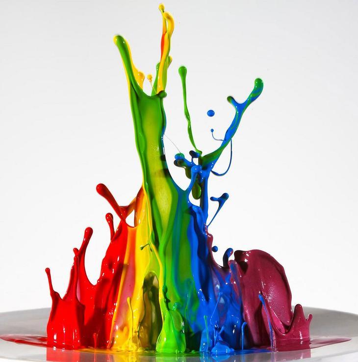 Разноцветные капли