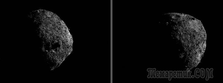 Зонд НАСА делает невероятные снимки астероида Бенну с расстояния в 1,5 километра