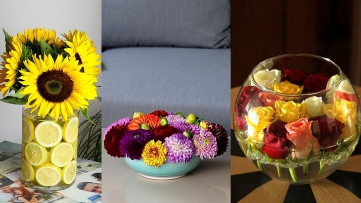 Поставить цветы в вазу? Сделай это креативно вдохновение, дом, идеи, оформление, своими руками, советы, цветы, я у мамы дизайнер