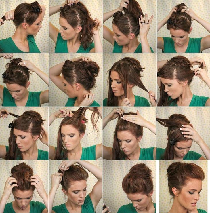 Сделать укладку на короткие волосы дома пошагово фото