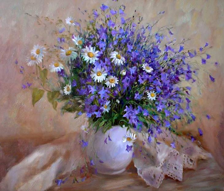 Полевые цветы... полевые. Вы согрели мне душу, родные! Натюрморты Родионовой Светланы