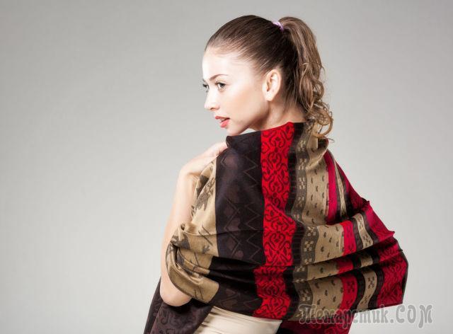 fullsize Как красиво завязать на голову шарф разными способами? Как красиво и стильно завязать шарф на голове летом, с пальто, мусульманке?