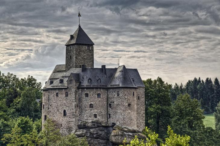 Крепость Фалькенберг, Германия. Построена в 1154 году. европа, замки, история, средневековье