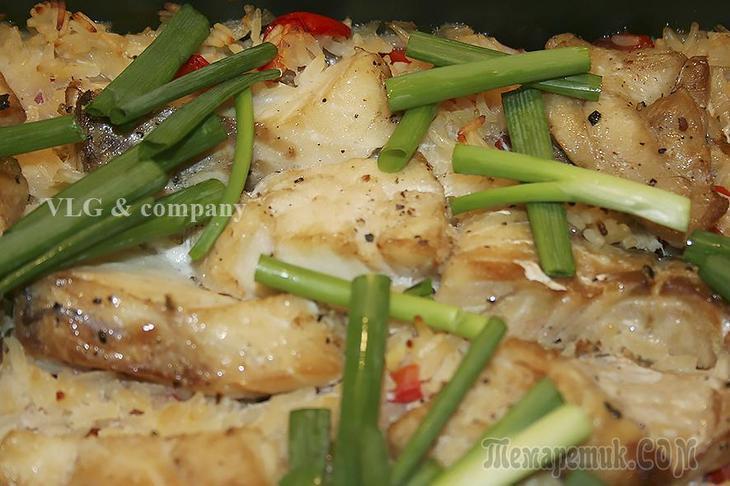 Запеченая рыба с рисом