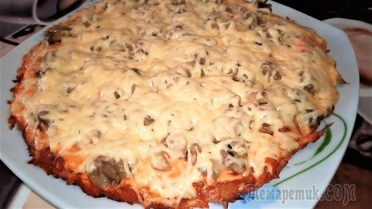 Картофельный пирог на сковороде. быстрый завтрак на скорую руку