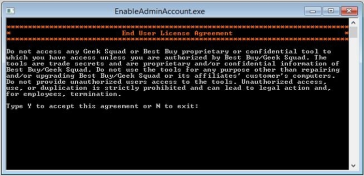 Окно утилиты Win8 Admin Enable BootDisk