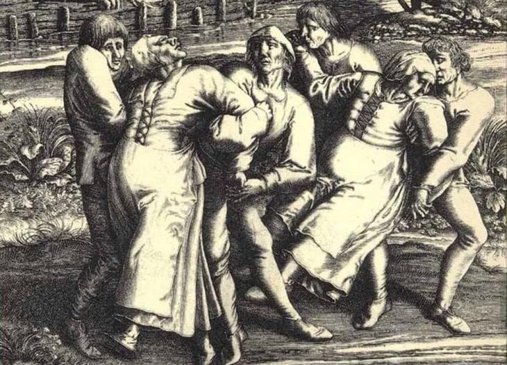 15. Танцующая чума 1518 года мистические убийства, паранормальное явление